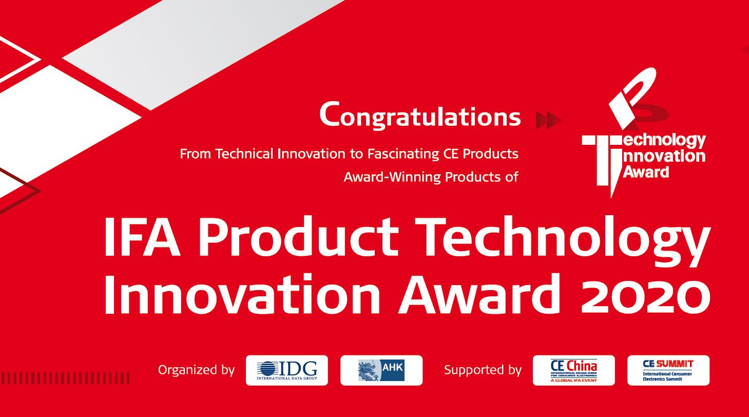 Winners of IFA Product Technology Innovation Award disclosed